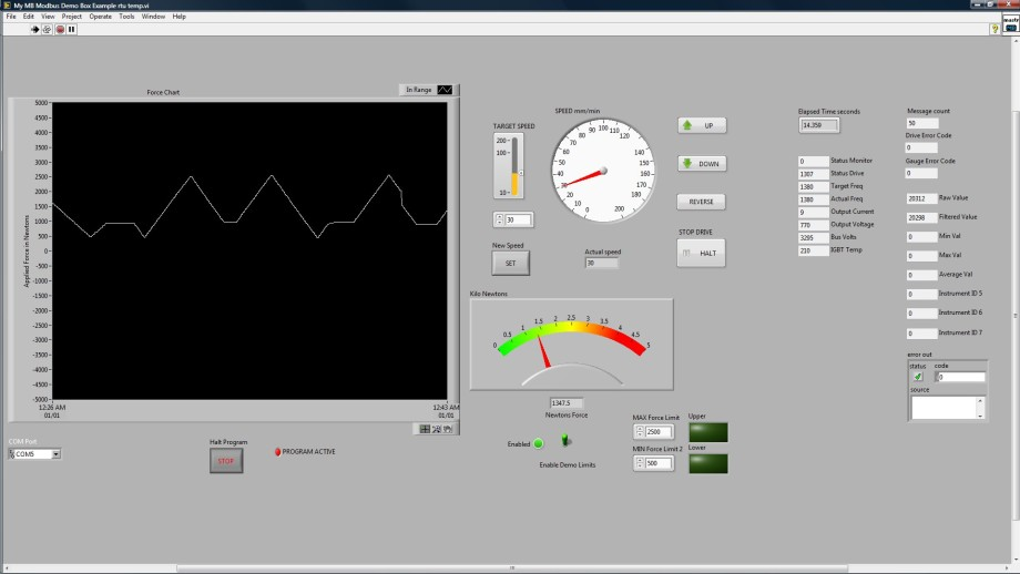 LabVIEW User Interface for Test Stand